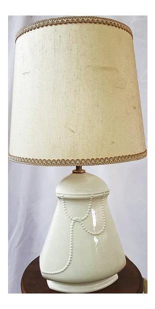 Antique French Lighting White Porcelain Lamp