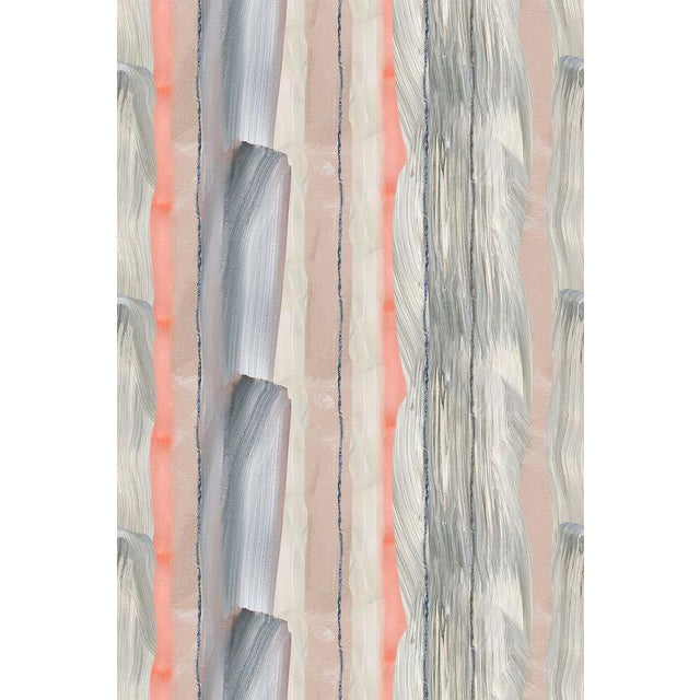 Peach Marble Stripe Wallpaper For Sale