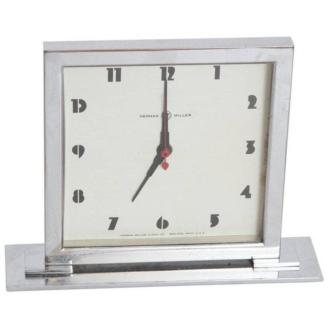 Machine Age Art Deco Gilbert Rohde for Herman Miller Original Working Clock For Sale - Image 11 of 11