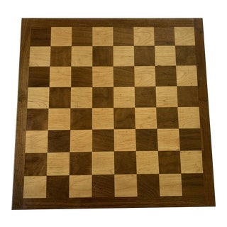 Mid-Century Wooden Checkerboard For Sale