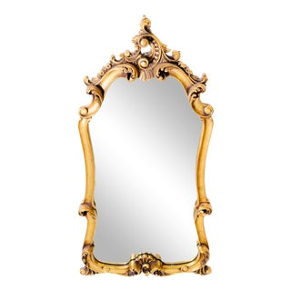 Early 20th Century Gold Giltwood Rococo Style Mirror For Sale