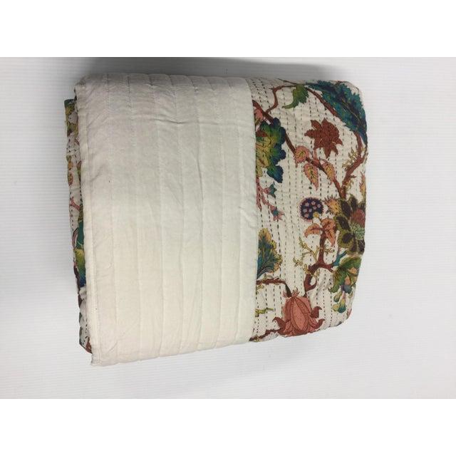 Vintage Chintz Bohemian Kantha Quilt - Image 2 of 4