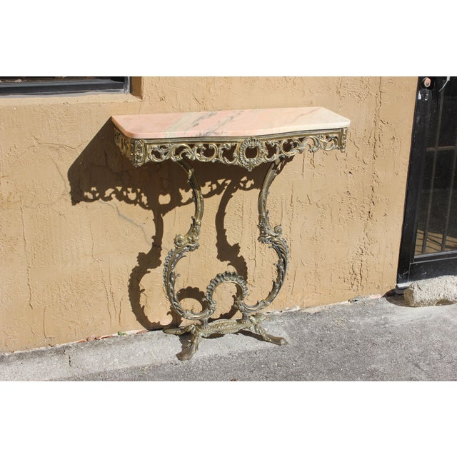 Beautiful French Louis XVI bronze console table With Marble Top Circa 1900s. very nice console table ,beautiful bronze...