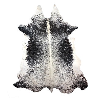 "Brazilian Black & White Cowhide Rug - 7'10"" x10'9"""