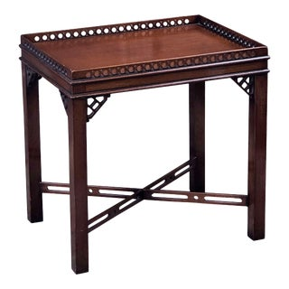 English Side or End Table of Mahogany in the Chippendale Style For Sale