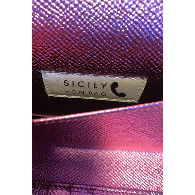 Metal Nwot Dolce and Gabbana Pink Sicily Von Wallet Cell Phone Clutch Purse For Sale - Image 7 of 10
