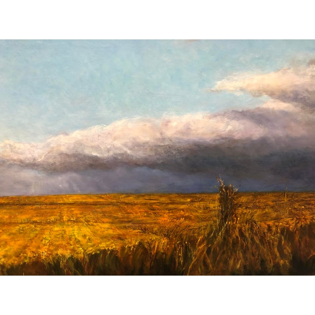 Contemporary Wheatfield Contemporary Landscape Painting For Sale - Image 3 of 5