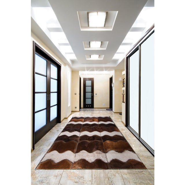 """Cowhide Patchwork Area Rug - 4' x 6'4"""" - Image 8 of 8"""