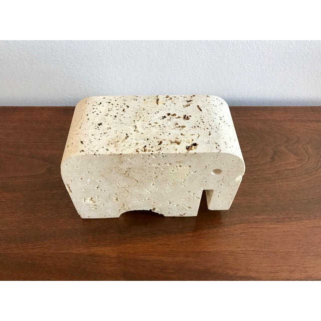 Fratelli Mannelli Travertine Elephant Bookend For Sale In San Diego - Image 6 of 11