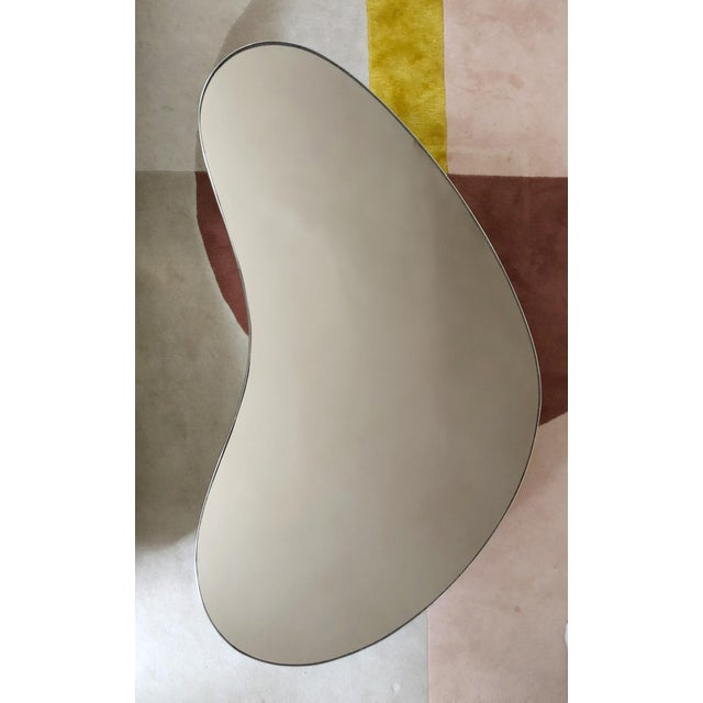 Late 20th Century Mid-Century Modern Mirrored Kidney Coffee Table For Sale - Image 5 of 12