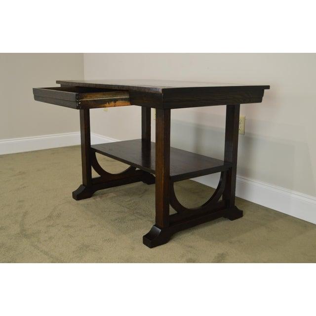 j.k. Rishel Antique Arts & Crafts Mission Oak Library Table Desk No. 811 For Sale - Image 12 of 13