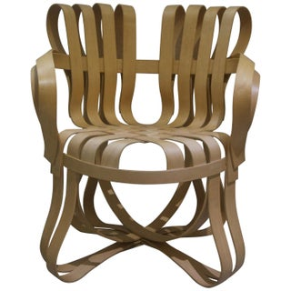 """""""Cross Check"""" Bentwood Armchairs by Frank Gehry for Knoll 1993 - a Pair Preview"""