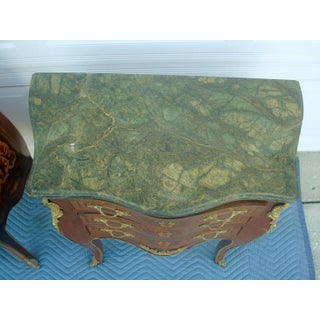 1940's French Louis XV Style Painted Marble Top Chest-a Pair Preview