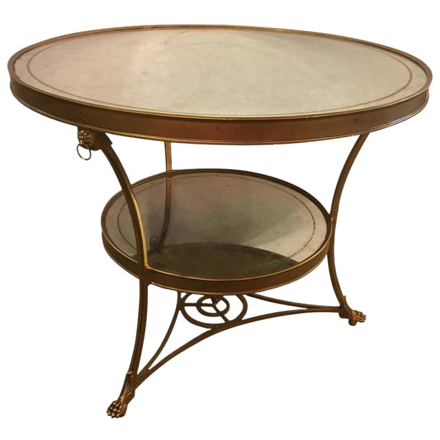 Hollywood Regency Style Gilt Based Eglomise & Mirror Top Gueridon Centre Table For Sale - Image 10 of 10