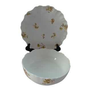 French Serving Bowl & Platter - Set of 2 For Sale