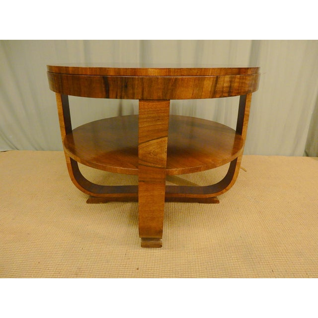 Art Deco 1930's Art Deco Round Table For Sale - Image 3 of 5