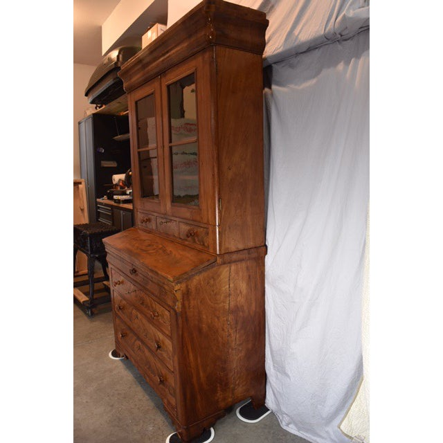 This beautiful writing cupboard has the original glass, which is charming and hard to find! The piece has authentic...