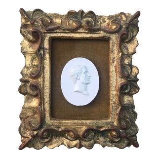 Plaster Intaglio in Italian Gilt Frame For Sale