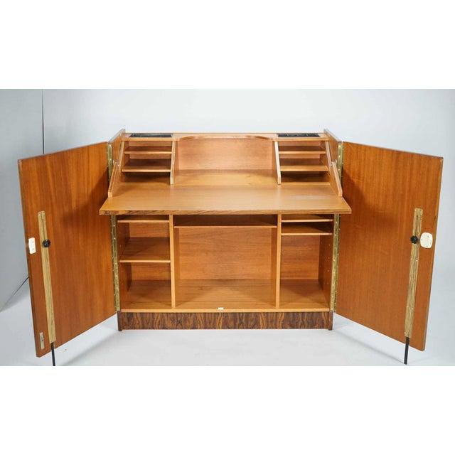 Low Fold Away Coffee Table: Mid-Century Modern Brazilian Rosewood Fold Away Desk