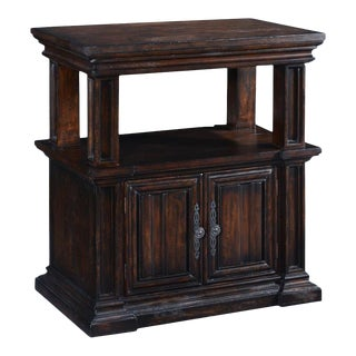Nightstand Cathedral Dark Rustic Pecan Wood For Sale