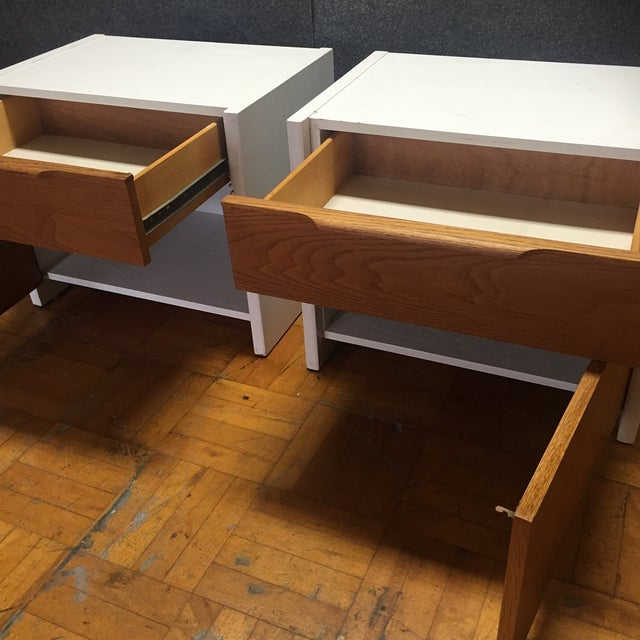 Danish Modern Barzilay Solid Wood Drawer Nightstands - Pair For Sale - Image 3 of 10