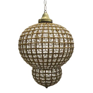Crystal Moroccan Style 14 In. Pendant Light For Sale