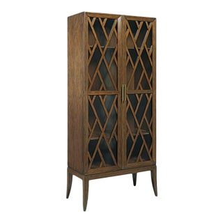 Modern Reed Brown Cabinet For Sale