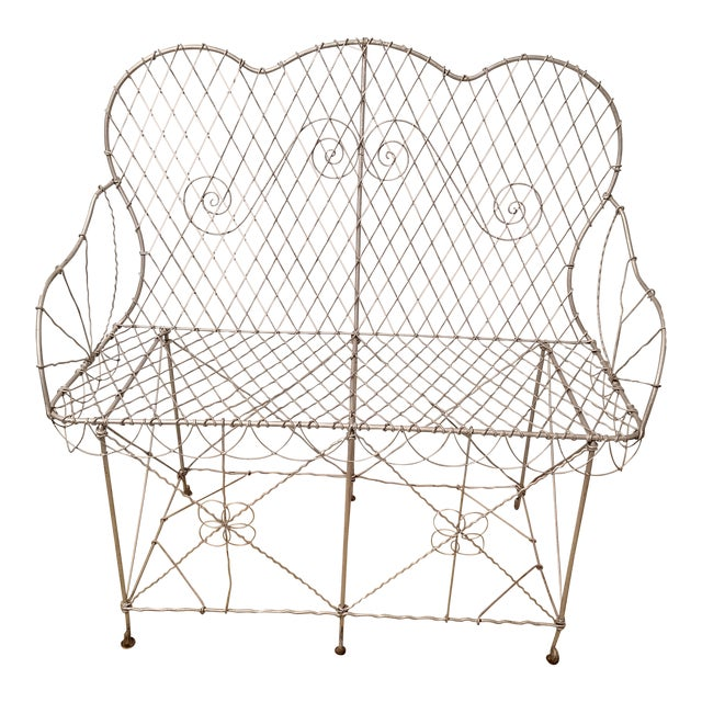 19th Century French Wire Garden Settee or Bench - Image 1 of 5