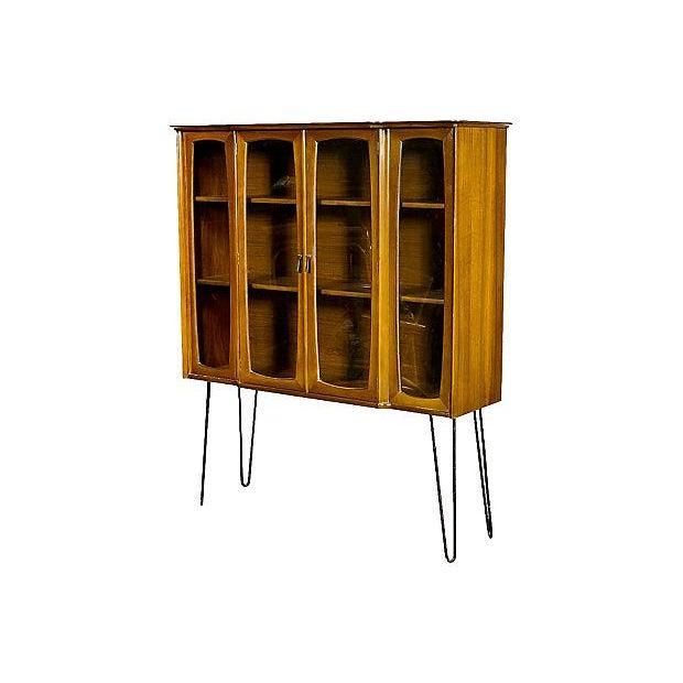 Dark Walnut China Closet with Hairpin Legs - Image 2 of 4