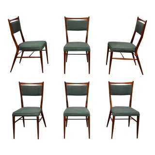 Paul McCobb Walnut Dining Chairs- Set of 6 For Sale