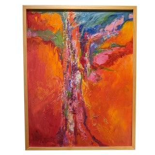 """Desert Heat"" Contemporary Abstrac Acrylic Painting by Jillian Goldberg, Framed For Sale"