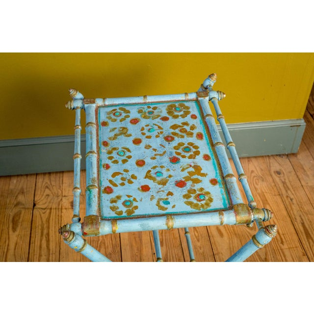 Antique Painted Tray Table For Sale - Image 4 of 13