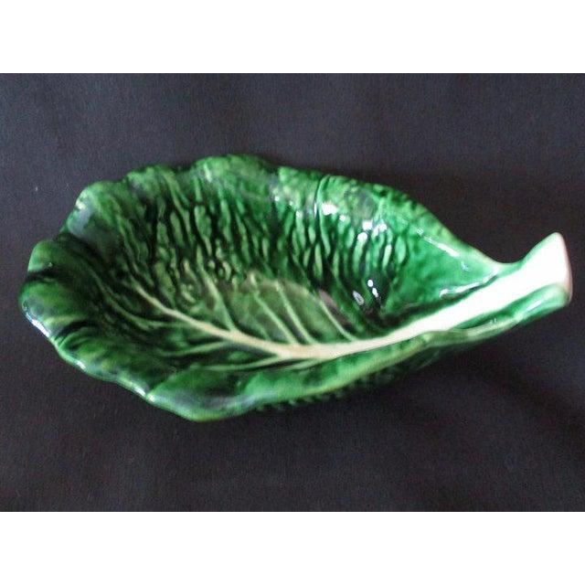 Vintage Cabbage Leaf Bowls From Portugal - Set of 4 For Sale - Image 4 of 6