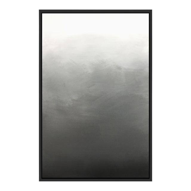 """""""Abstract Gray Ombré"""" Framed Giclée Print - Image 1 of 3"""