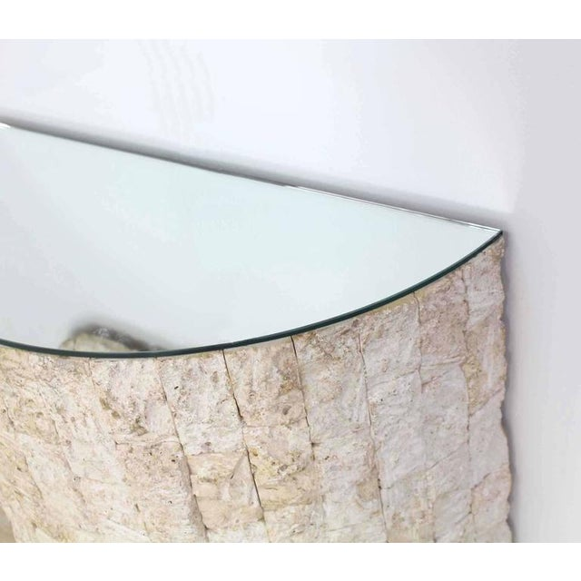Glass Crushed Rock Tile Console Table with Mirror For Sale - Image 7 of 9