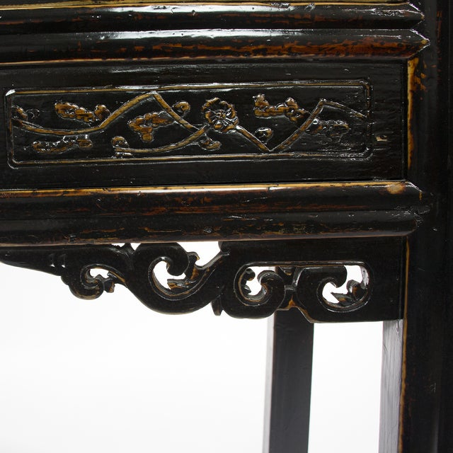 antique chinese black writing desk for sale image 5 of 5 - Black Writing Desk