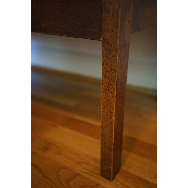 Mid-Century Robert Allen Upholstered Cane Settee For Sale In Raleigh - Image 6 of 13