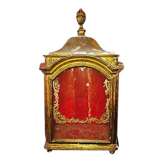 18th Century French Gilt Painted Display Cabinet