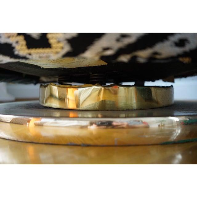 Milo Baughman for Thayer Coggin Milo Baughman for Thayer Coggin Gold Base Swivel Chair For Sale - Image 4 of 11