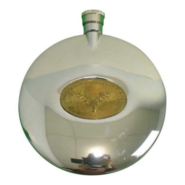 Original Sporran Stag Chrome Flask For Sale