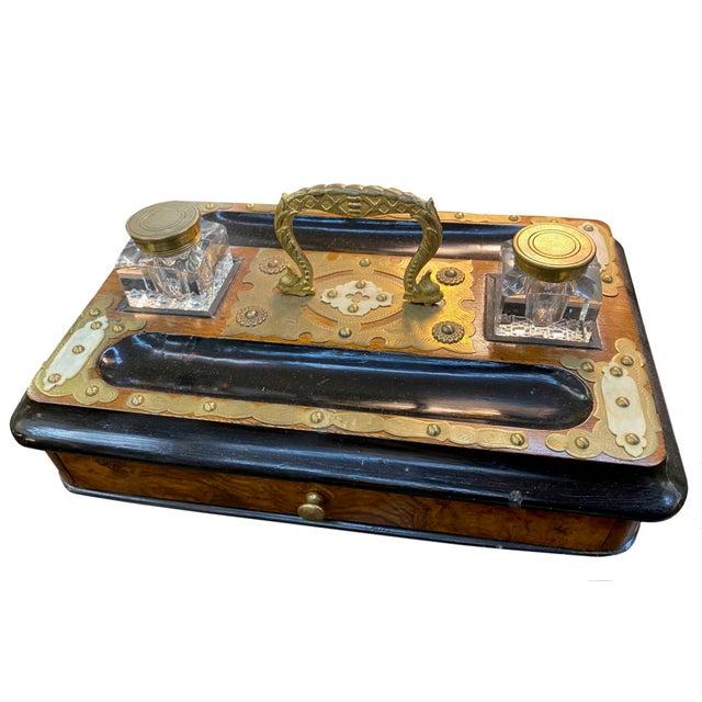 Antique English Desk Set For Sale - Image 4 of 6