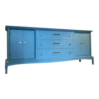 Gorgeous Buffet or Credenza in Blue For Sale