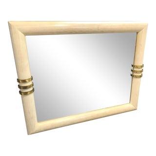 Karl Springer Style Mirror For Sale