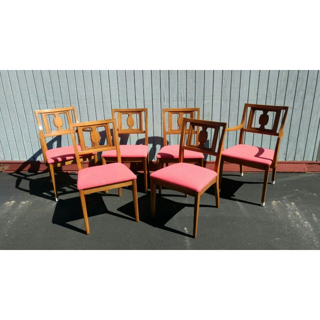 Drexel Butternut Dining Chairs - Set of 6From the Meridian Collection for - Image 2 of 8