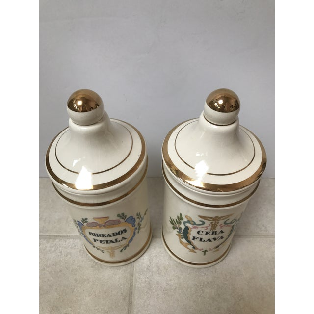 Antique Apothecary Jars - A Pair For Sale - Image 5 of 6