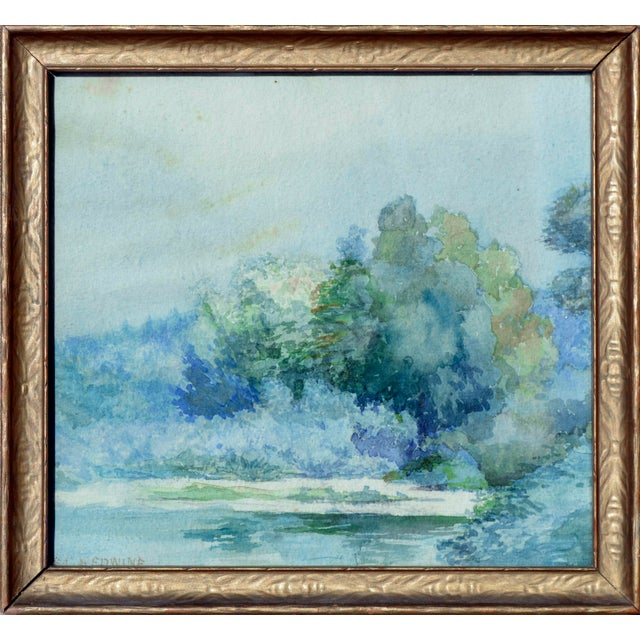 1940s At Water's Edge by Emma Lou Redwine For Sale - Image 5 of 5
