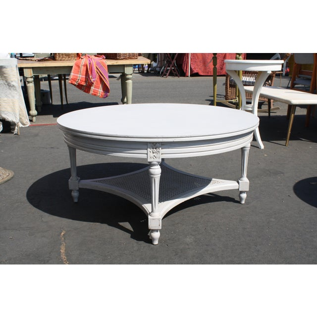 Vintage Round French Grey Coffee Table - Image 3 of 3