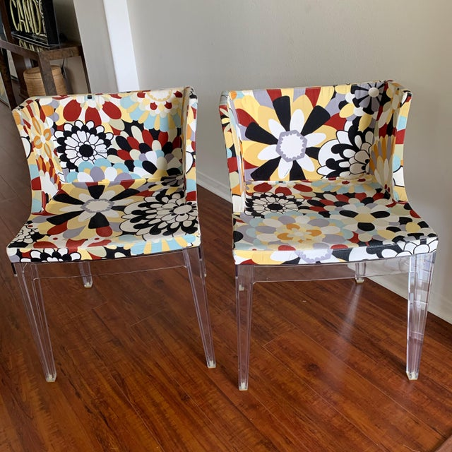 Kartell Phillipe Starck Missoni Fabric Mademoiselle Chairs - a Pair For Sale - Image 9 of 9