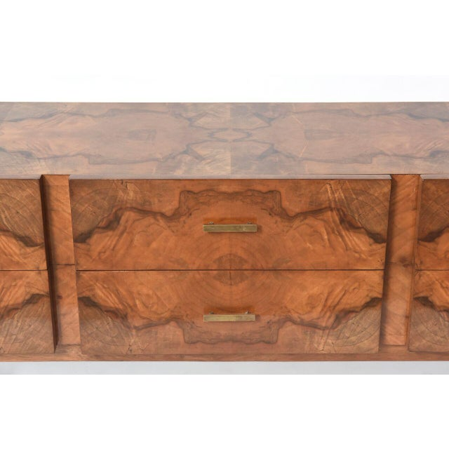 Italian Modern Root Wood Six-Drawer Buffet or Chest of Drawers For Sale - Image 4 of 8