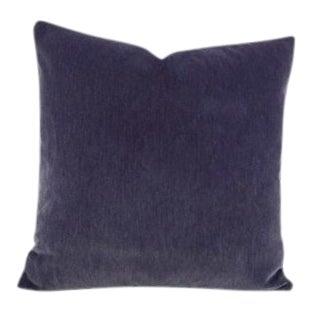 Pollack Soho Plush Indigo Pillow Cover For Sale